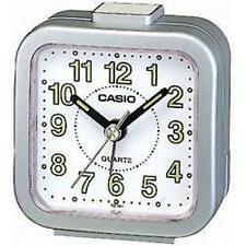 Casio TQ141 Mini Alarma De Cama De Sonido Análogo Reloj De Plata