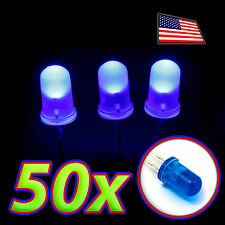 [50x] LED 5MM BLUE Super Bright DIFFUSE Lens Bulb