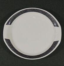 Syracuse China Syralite Restaurant Ware Oval Platter Black Screen Stone Wall EUC