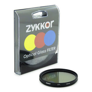 Zykkor 62 mm 62mm Circular Polarizing C-PL PL-CIR CPL Filter Brand New US Seller