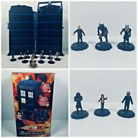 Doctor Who Micro-Universe Tardis Collector Case + Figures inc Rare & Uncommon