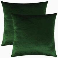 SET OF 2 UK MADE ROYAL BOTTLE DARK GREEN LUXURY VELVET CUSHION COVER £14.99 SET