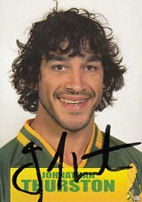 2013 RUGBY LEAGUE WORLD CUP SERIES SIGNATURE CARD - JOHNATHAN THURSTON