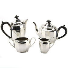 Art Deco Sterling Silver 4pcs Tea & Coffee Set Birmingham England 1950