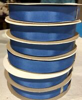 """50 YARDS BLUE GROSGRAIN RIBBON, #5 7/8""""  WASHABLE RAYON/COTTON MADE IN USA"""