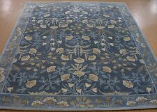 8' x 10' Pottery Barn Adeline Blue Persian Style New Hand Tufted Wool Rug