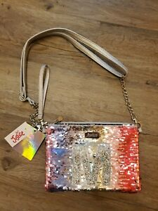 NWT Justice for Girls Purse Convertible Crossbody bag Initial M Flip Sequin NEW