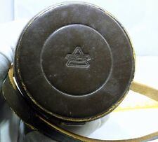 "Minolta Leather Lens Case 6 x 2.5 x 2.5"" OD Rokkor TC rangefinder Genuine"