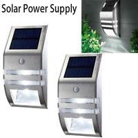 4 Pack Solar Powered LED Wall Light Motion Sensor Security Lamp Outdoor Lamp RF