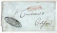 Cosenza - Bollo Ovale Rosso -  per Colosimi  nel 1839 - Lettera