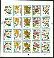 US Scott # 3193-97 32 Cent FLOWERING TREES (1998) - Sheet of 20 Stamps MNH