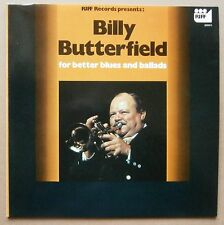 LP Billy Butterfield - For Better Blues And Ballads Holland Riff Jazz 1976 Nm