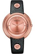 Versace Women's VA7040013 Thea Rose Gold Ion-Plated Stainless Steel Sunray Dial