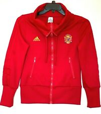 Adidas Womens Spain National Football Team Small World Cup Track Jacket Red FIFA