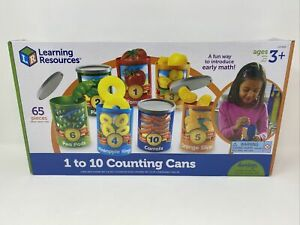 LEARNING RESOURCES 1 TO 10 COUNTING CANS - Educational Toy - NEW - Play Food