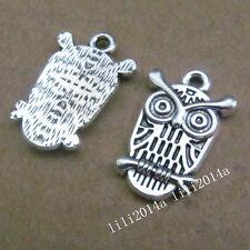 10pc Retro Tibetan Silver Owl Animal Charms Pendant Beads Jewellery Making PL253
