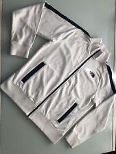 The North Face Track Jacket Men's Large White Black Striped Athletic Jacket