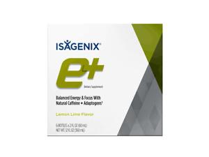 NEW Isagenix e+ Shots Lemon Lime Flavour SuperEnergy Increase Stamina Alertness