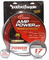 NEW Rockford Fosgate RFK4, 4 AWG  Amplifier Power Installation Wiring Kit