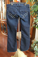 William Rast SAVOY ULTRA LOW RISE Trouser Flare Jeans Womens Size 27