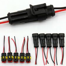 5pair 2 Pin Car Boat Sealed Waterproof Electrical Wire Connector Plug Terminal