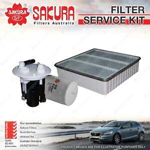 Sakura Oil Air Fuel Filter Service Kit for Mitsubishi Lancer CG CH 2.0L 02-05
