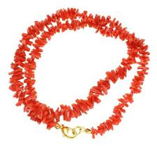 Genuino Natural (NO incrementado) Rojo Coral Graduado Collar de cuerda 18 1.3cm