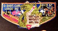 O-SHOT-CAW LODGE 265 SOUTH FLORIDA FL PATCH 1998 NOAC TAN DELEGATE FLAP GODZILLA