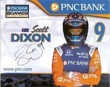 2018 SCOTT DIXON signed INDIANAPOLIS 500 HERO PHOTO CARD INDY CAR PNC HONDA ver2