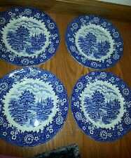 "Alfred Meakin HOMELAND blue TRANSFERWARE 10"" Plate England Staffordshire LOT"