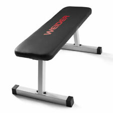 Weider Flat Weight Bench with Sewn Vinyl Seats Home Fitness Gym - FREE SHIPPING