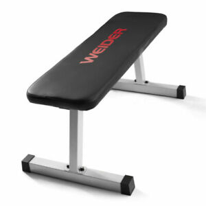 Weider Strength Flat Weight Bench with Sewn Vinyl Seats NEW IN HAND