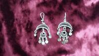 Egyptian Half Moon Full Moon Made In Egypt Twisted Sterling Silver Earrings