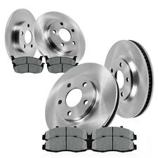 Front+Rear Brake Rotors Metallic Pads For 2003 2004 2005 2006 2007 JEEP LIBERTY