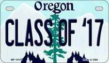 Class of '17 Oregon State Background Novelty Motorcycle Plate