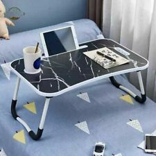 Laptop Bed Tray Table Portable Lap Desk Notebook Breakfast Tray Cup Slot UK