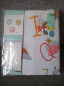 """New Next Childrens' Alphabet Blackout Lined Thermal Eyelet Curtains 46x54"""""""