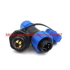 SP13 6pin Waterproof Connector, 6pin Circular Multipole Plug&Socket Wall Install