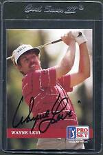 1992 Pro Set Golf Wayne Levi #36 Signed Autograph