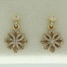 Clear Cz Earrings 14K Gold Authentic Pandora 250323Cz Lace Botanique