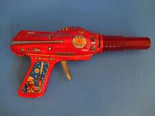Rare Vintage Tin Atom Gun Space Ray Pistol Japan Toy