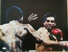 Roberto Duran signed 16x20 photo vs Sugar Ray Leonard JSA coa