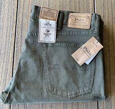 Polo Ralph Lauren Men's Green Hampton Relaxed Straight Leg Jeans Sz 38x30 NWT