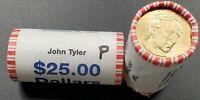 2009 D John Tyler Dollar Presidential 25 Coin BU Unc String & Son Roll
