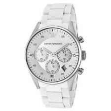NEW EMPORIO ARMANI AR5867 WHITE LADIES CHRONOGRAPH WATCH - 2 YEAR WARRANTY