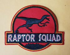Jurassic World Park Raptor Squad/Costume Patch 4 inches wide