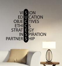 Success Wall Decal Inspirational Words Business Vinyl Sticker Education Decor q8