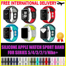 Silicone iWatch Sports Band Strap For Apple Watch Series 5 4 3 2 40/44mm 38/42mm
