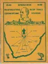 Sud AFRICA - 1949 Springbok RUGBY sperimentazioni SOUVENIR RUGBY BLOCCHETTO