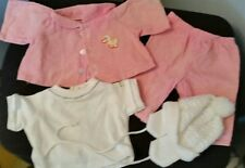 Cabbage Patch Kids Vintage 4pc Pink  Corduroy Snowsuit*OK*RARE DUCKY MOTIF